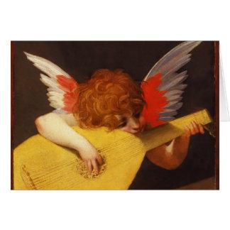 El navidad musical del vintage del ángel tarjeta de felicitación