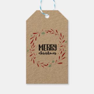 El navidad personalizó etiquetas del regalo