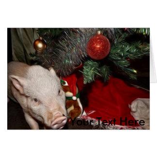 El navidad personalizó la mini tarjeta pintada del