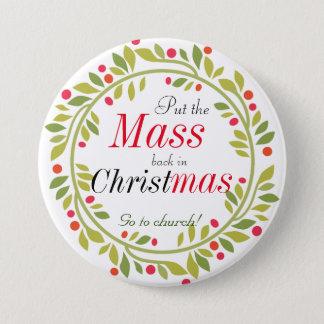 El navidad religioso va al botón de la iglesia