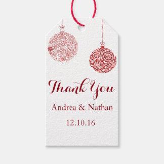 El navidad rojo le agradece etiqueta del regalo etiquetas para regalos