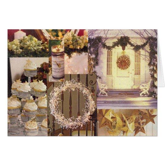 El navidad se dirige tarjeta de felicitación