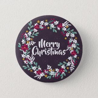 El navidad simple enrruella el botón del Pin de la