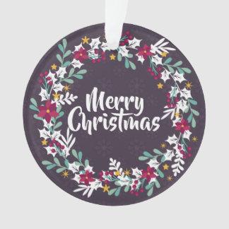El navidad simple enrruella el ornamento de la