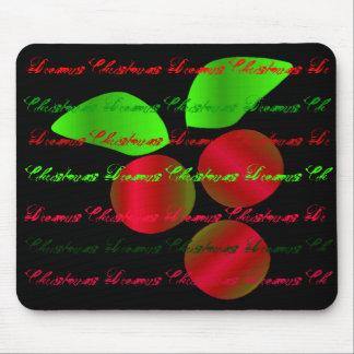 El navidad soña el acebo rojo - personalizable alfombrilla de ratón