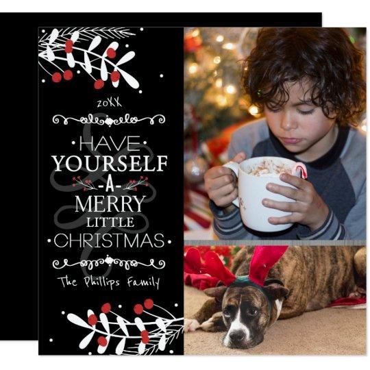 El navidad tiene usted mismo… Tarjeta roja de la Invitación 13,3 Cm X 13,3cm