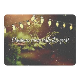 El navidad vino temprano contando con la tarjeta