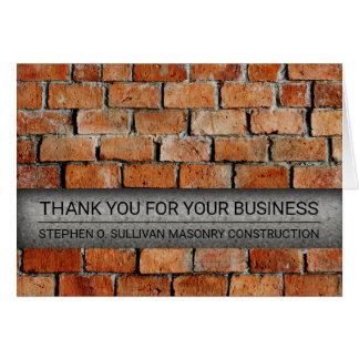 El negocio de construcción de albañilería del tarjeta pequeña