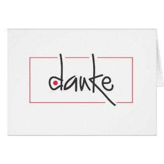 El negocio de Danke le agradece en cualquier lengu Tarjeta Pequeña