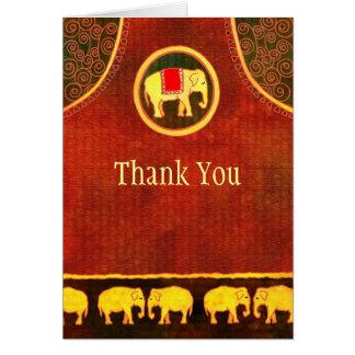 El negocio del reino del elefante le agradece tarjeta pequeña