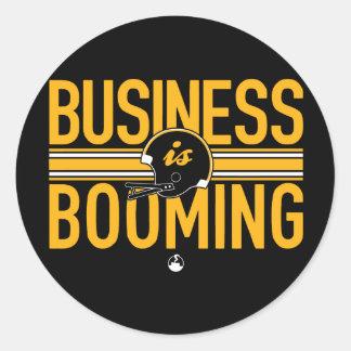 El negocio está resonando pegatina redonda
