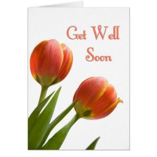 El negocio floral consigue el pozo pronto de tarje tarjeta de felicitación