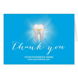 El negocio llano sonriente del diente del cuidado tarjeta pequeña