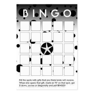 El negro abstracto puntea la tarjeta nupcial del b tarjetas de visita grandes