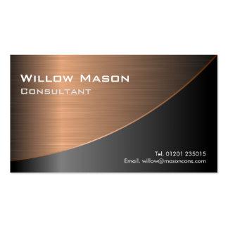 El negro cepilló haber curvado de cobre, tarjeta d tarjeta personal
