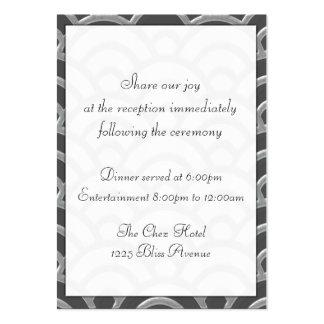 El negro del art déco, blanco, la bodas de plata i tarjeta de visita