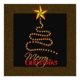 El negro del navidad y la invitación del fiesta