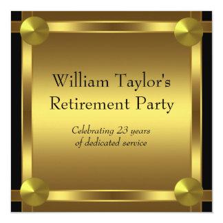 El negro elegante y el oro sirve al fiesta de invitación 13,3 cm x 13,3cm