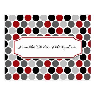 El negro gris rojo oscuro moderno circunda tarjeta postal
