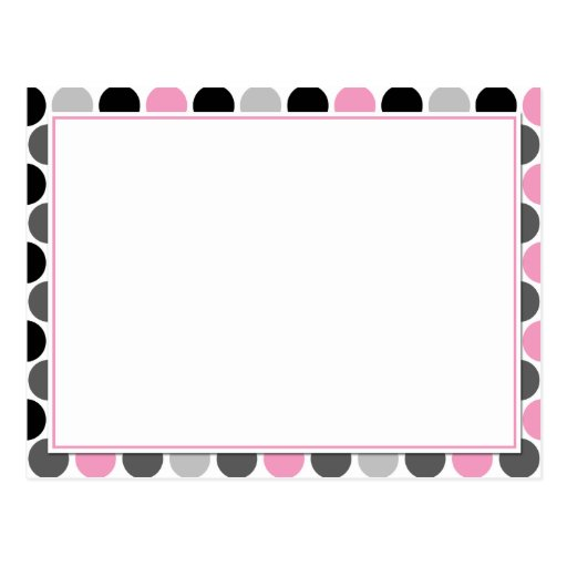 El negro gris rosado de #4Modern circunda tarjetas Postal