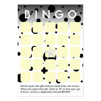 El negro moderno puntea la tarjeta nupcial del bin tarjetas de visita grandes
