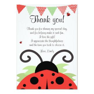 El negro rojo de la mariquita le agradece cardar invitación 12,7 x 17,8 cm