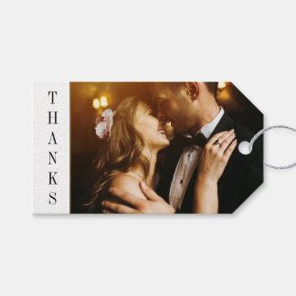 El negro y el boda de encargo de la foto de la etiquetas para regalos