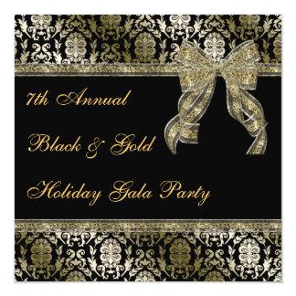 El negro y la celebración de días festivos invitación 13,3 cm x 13,3cm