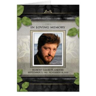 El negro y la condolencia de la foto de las hojas tarjeta de felicitación