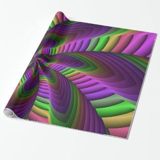 El neón colorea el modelo colorido loco de papel de regalo