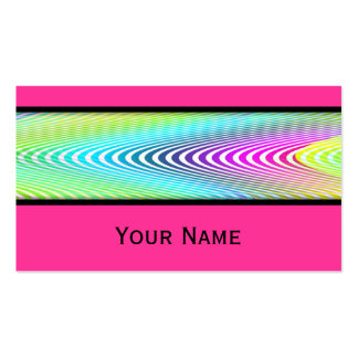 El neón coloreado agita el modelo inconsútil de tarjetas de visita