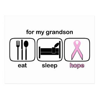 El nieto come la esperanza del sueño - cáncer de postal