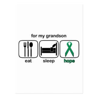El nieto come la esperanza del sueño - cáncer del postal