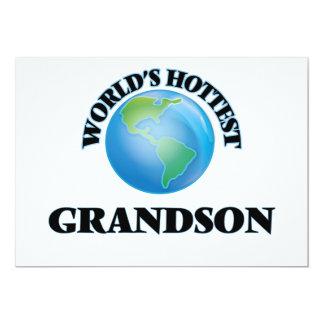 El nieto más caliente del mundo invitación 12,7 x 17,8 cm