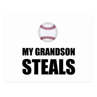 El nieto roba béisbol postal