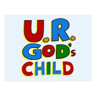 El niño de dios postal