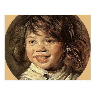 El niño de risa   de Francisco Hals Tarjeta Postal
