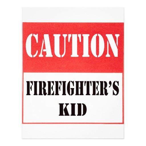el niño del bombero de la precaución tarjeta publicitaria