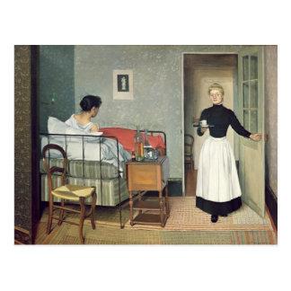 El niño enfermo 1892 postal