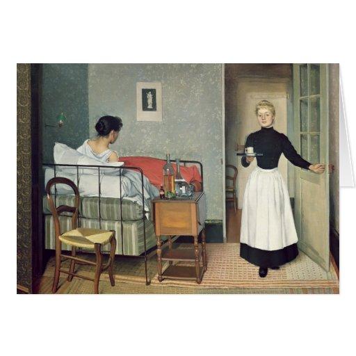 El niño enfermo 1892 felicitacion