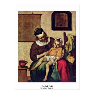 El niño enfermo de Metsu Gabriel Postales