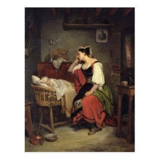 El niño enfermo postal