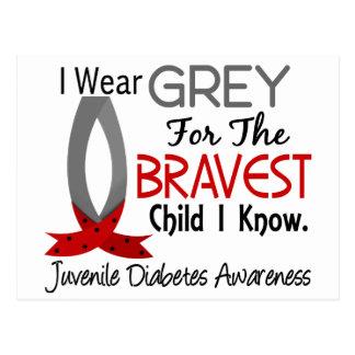 El niño más valiente sé la diabetes juvenil tarjeta postal