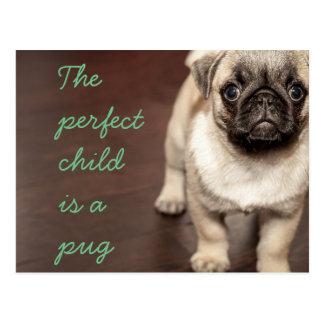 El niño perfecto es un barro amasado postal