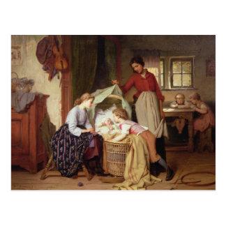 El niño recién nacido postal