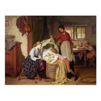 El niño recién nacido tarjeta postal