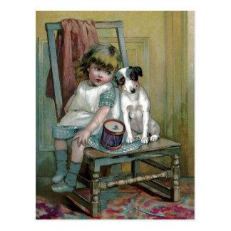 El niño y el perro del Victorian están de luto el Postal