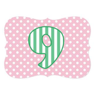 El nombre de encargo del 8vo cumpleaños del chica invitación 12,7 x 17,8 cm