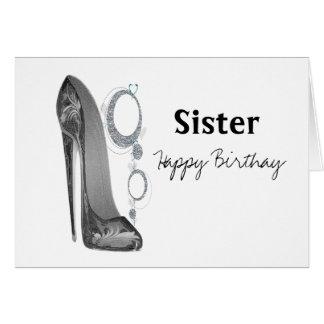 El nombre de la hermana personaliza la tarjeta de
