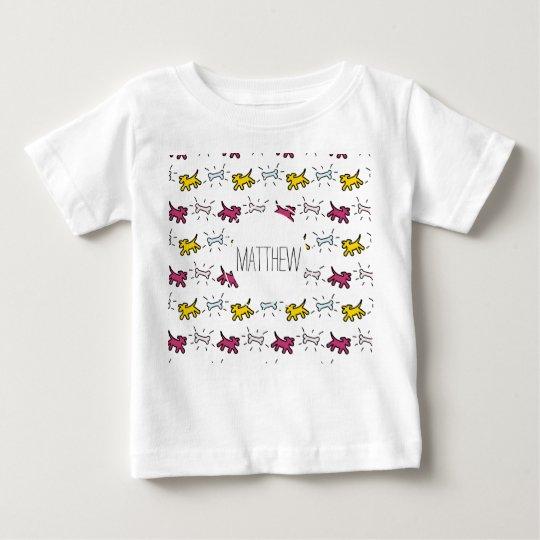 El nombre del estilo de la pintada del hueso de camiseta de bebé